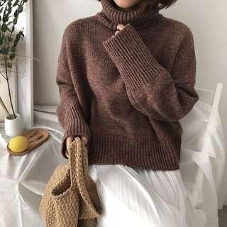🚚 重磅高領針織毛衣