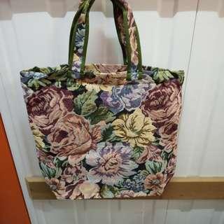 Chimaki Tote Bag 日本品牌大大朶織花手挽袋