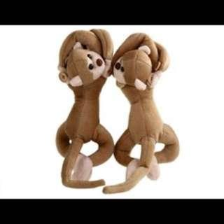 2Pcs Monkey Curtain Buckle