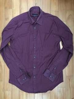 Zara maroon long sleeve shirt