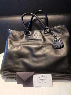Used Prada Soft Calf black Sling Bag