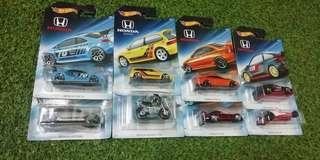 Hotwheels Honda Theme Complete Set civic ef
