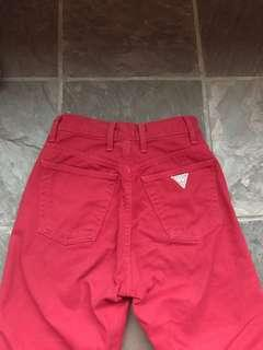🚚 AUTHENTIC VINTAGE RED GUESS JEANS