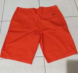 Celana Pendek Oakley Short Shorts Orange Color Size 34 New