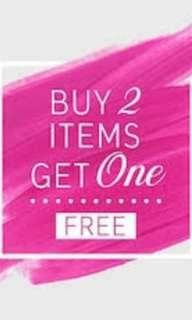 BUY 2 ITEMS GET 1 FREE
