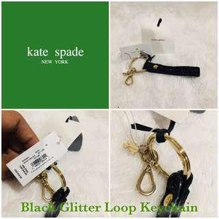 Kate Spade Glitter Loop Keychain Charm