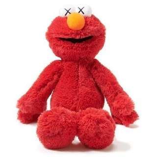 Uniqlo KAWS X Sesame Street Elmo & Cookie Monster 一對