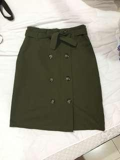 New Army Green Skirt