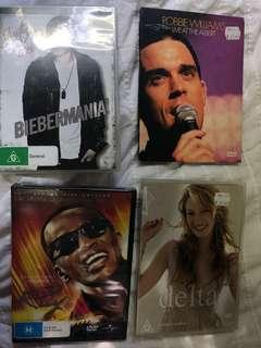 Assorted concert dvds
