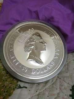 1994年澳洲蜂鳥1公斤1000g9999純銀幣