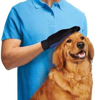 🚚 Pet grooming glove for Dog Cat Fur hair removal massage