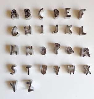 Brand New 26 Pieces Letter / Alphabet Cookie Cutters
