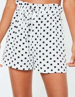 White Polka Dot Shorts