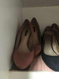 F21 pink heels