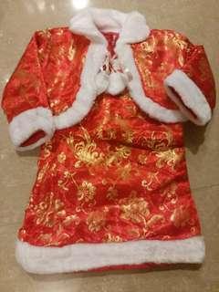 全新中國服新年服背心裙+外套