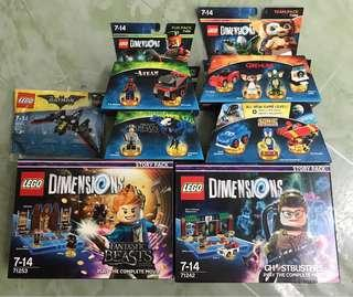 LEGO Dimensions Combo Sale- Ghostbusters™ Story Pack  71242, Fantastic Beasts and Where to Find Them™ Story Pack 71253, Sonic 71244, Gremlins 71256, A-Team 71251, Tina Goldstein 71257 & batwing polybag 30524