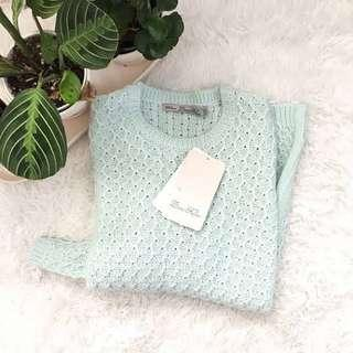 Zara Knit Sweater (Mint)