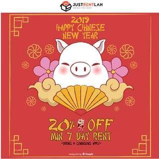 [RENT] JustRentLah CNY 2019 Promo