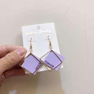 🚚 全新|韓版紫金配耳環