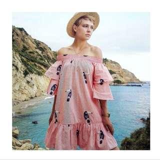 ZARA Off-Shoulder Toucan Dress