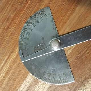 Stainless Steel 180 degree Protractor Angle Finder Rotary Measuring Ruler