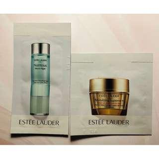Estee Lauder Nutritious Micro Algae微藻平衡清爽保濕乳液 x1 pc - 1.5ml; Revitalizing Supreme新生活膚全能眼霜 x1 pc - 0.5ml (sample)