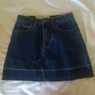 insight denim skirt