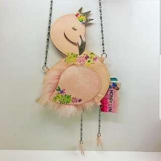 Imported shimmered Flamingo bag from Dubai