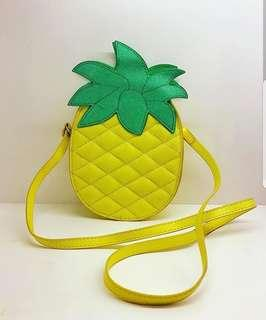 Shimmered pineapple bag from Dubai