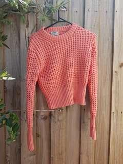 Acne studios salmon chunky knit jumper. XS. Cotton