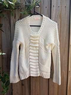Sass and Bide white cotton knit jumper. XS.