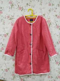 GAP long blazer pink
