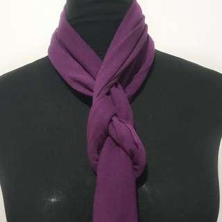 Purple Slim Scarf
