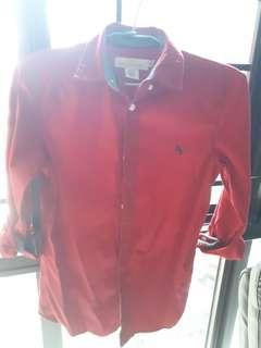 H&M Boys long sleeves Red Shirt - Size 10/11
