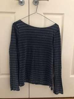 Free People Long Sleeve with Low Back