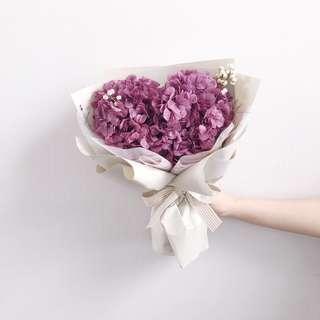 🚚 Preserved Hydrangea bouquet | Vday Flower Bouquet | Birthday Flower | Anniversary Gift | Purple Hydrangea | 永生花绣球 |鲜花运送 |情人节花束 |生日花束