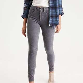 American eagle outfitters super stretch gray high rise jeggings