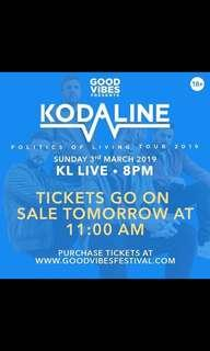 For sale ; KODALINE