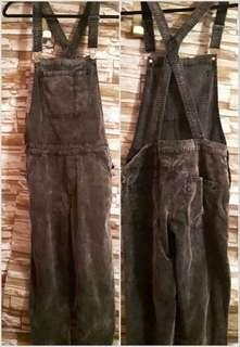 Small women's H&M overalls black suede