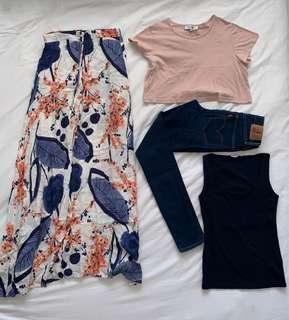 Levi jeans, Zara top, glassons top & dress BUNDLE!