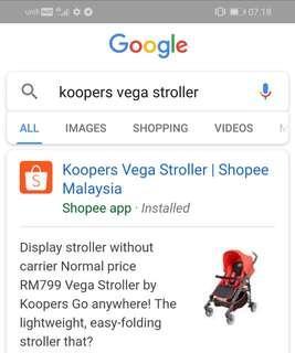 Stroller vega koopers