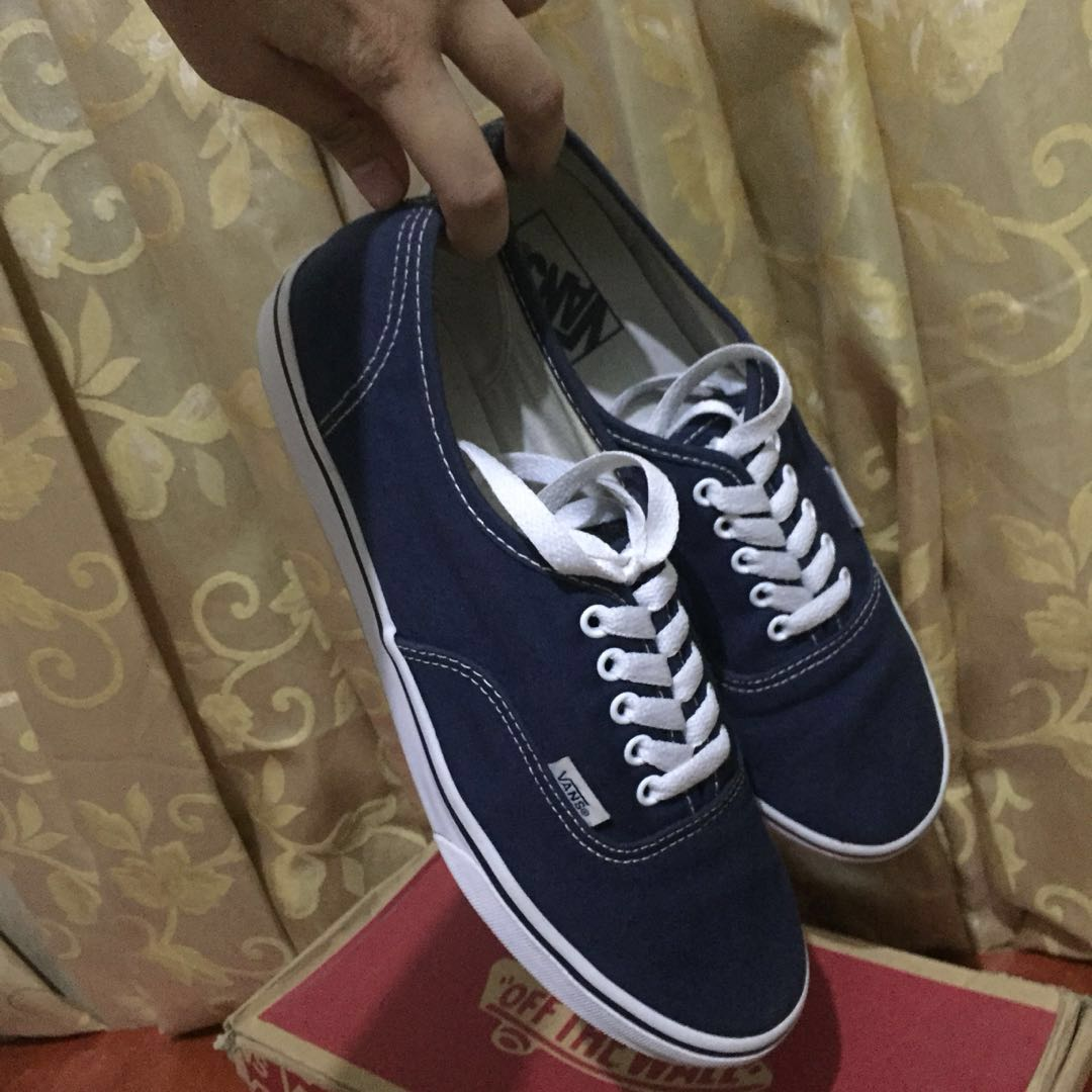 9cfa7387076188 100% Original Vans Women s Authentic Lo Pro  Navy True White ...