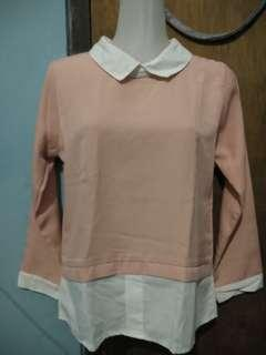 #JAN25 blouse peach salem