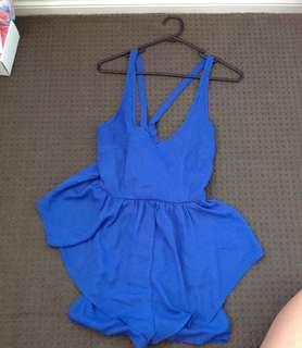 Ally Royal Blue Playsuit
