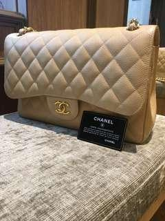 """🚚 LNIB CHANEL DOUBLE FLAP JUMBO 13"""" QUILTED BAG"""