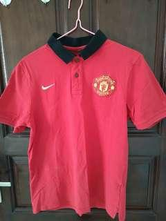 Manchester united polo nike曼聯短袖polo t-shirt L