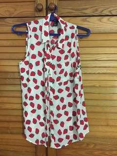 Forever 21 cherry blouse