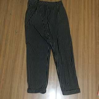 Stripes Pants Cotton Ink