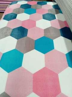 Pink based carpet