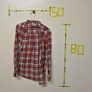 🚚 格紋紅襯衫